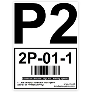 A4 location label