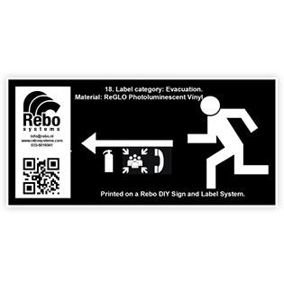 Photoluminescent Evacuation label
