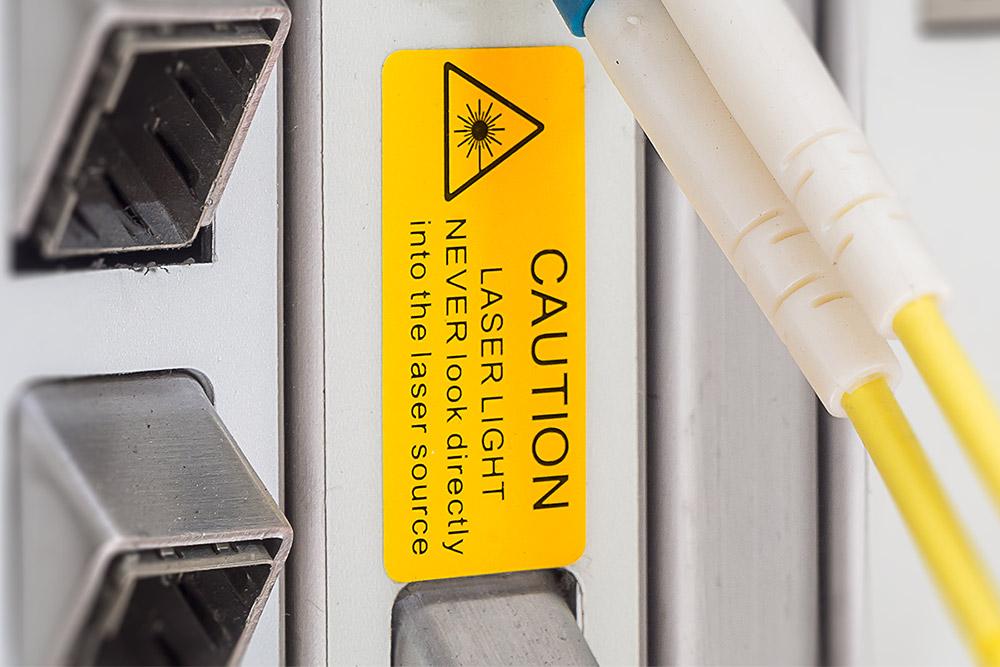 Laser waarschuwingssticker