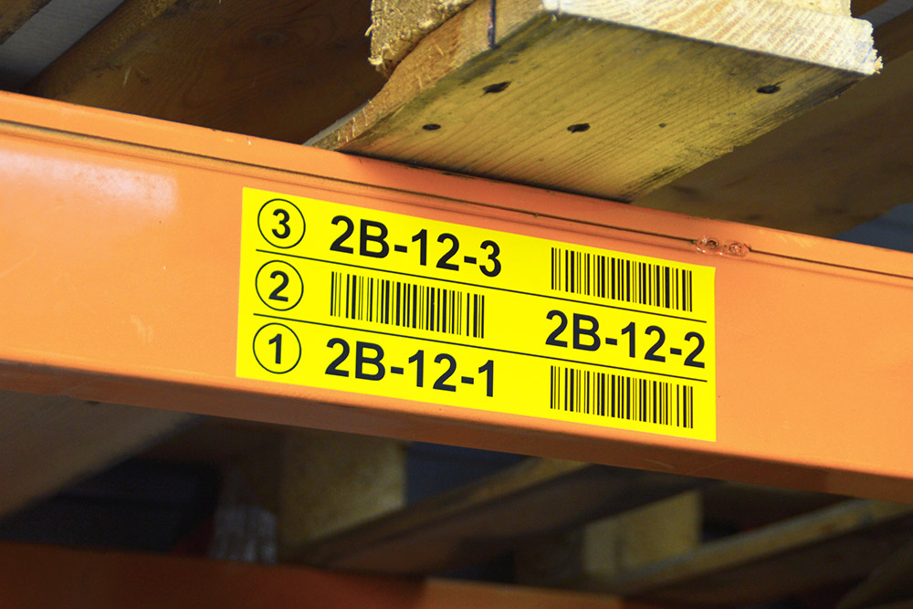 Multi-level locatie labels en Barcode labels