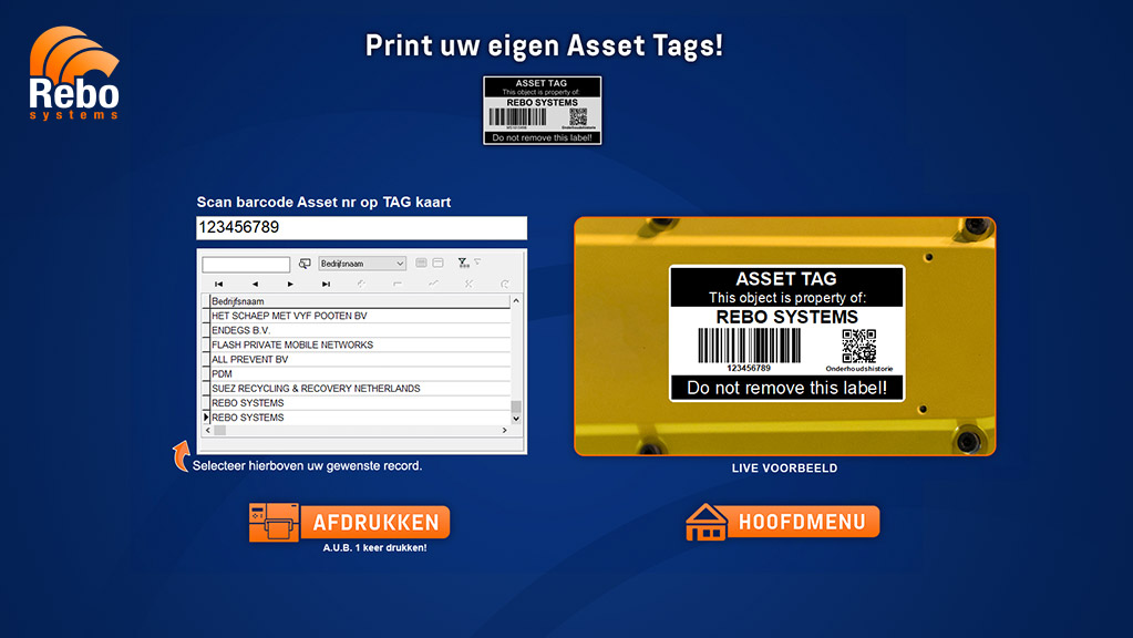 Asset labelling solution | NiceLabel Powerforms