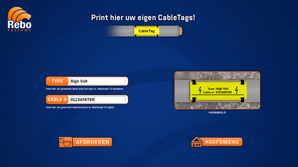Cable Tags printing solution | NiceLabel Powerforms