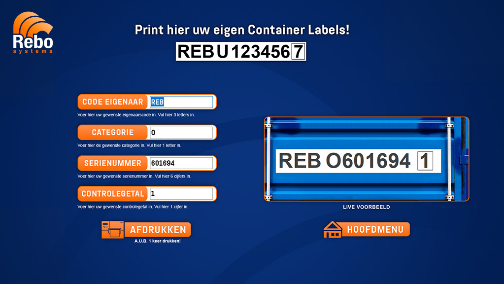 Container labelling solution | NiceLabel Powerforms