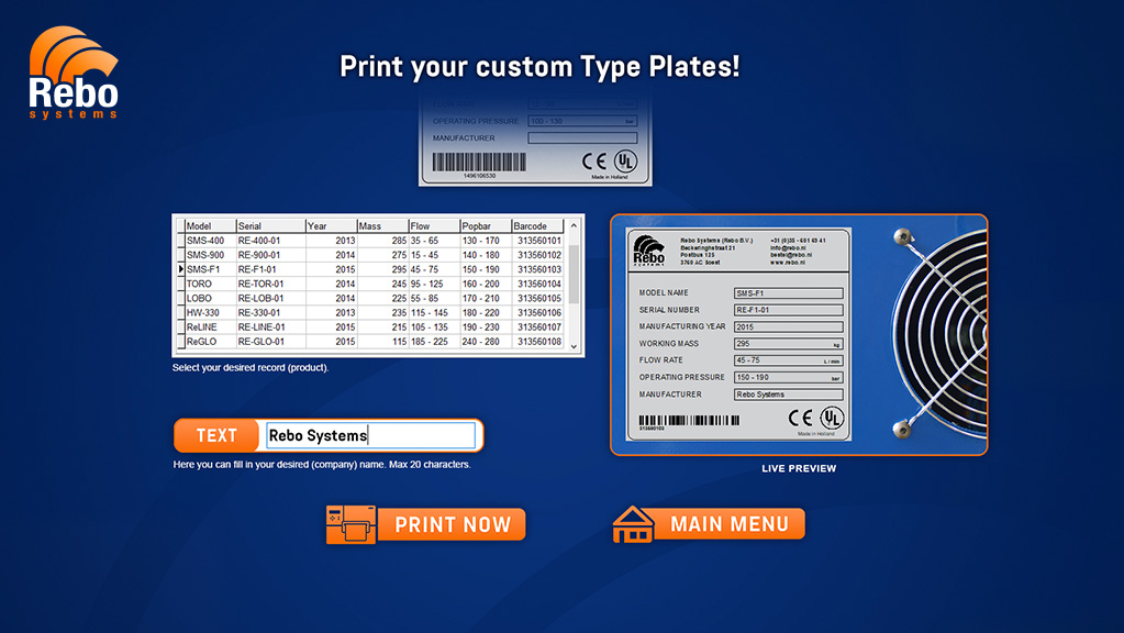 Machine plates printing solution | NiceLabel Powerforms